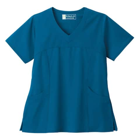 BIO Stretch Sporty V-Neck Ladies Scrub Top