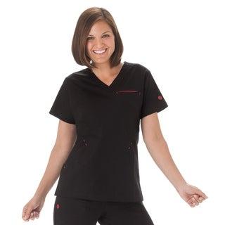 BIO Stretch Ladies Angle V-Neck Scrub Top