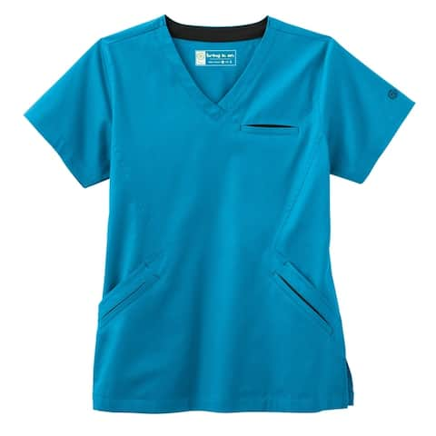 BIO Stretch Angled V-Neck Ladies Scrub Top