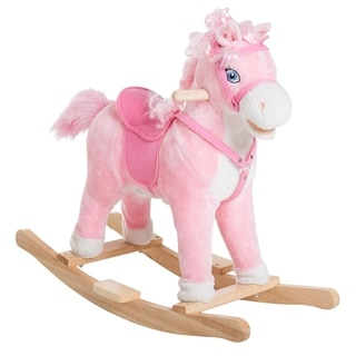 Kids Plush Toy Rocking Horse