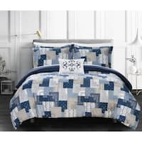 Chic Home Tethys 8 Piece Reversible Bed in a Bag Duvet Cover Set