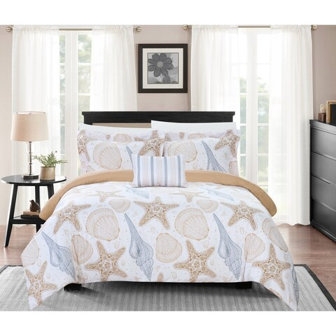 Chic Home Catriona 8 Piece Reversible Bed in a Bag Duvet Cover Set