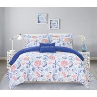Chic Home Veluz 8 Piece Reversible Bed in a Bag Duvet Cover Set
