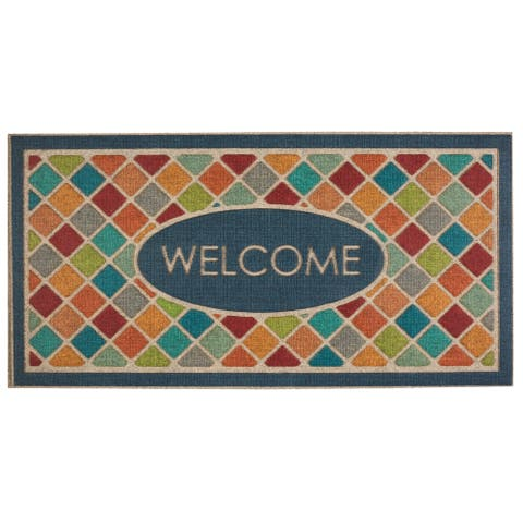 Mohawk Ornamental Ornamental Crosshatch Entry Mat (2'x4') - 2' x 4'