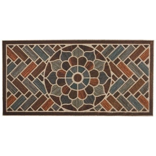 Mohawk Ornamental Ornamental Grain Entry Mat (2'x4') - 2' x 4'