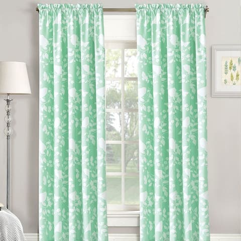"Serenta Birdsong Printed 2 Piece Curtain Set - 60"" x 84"""