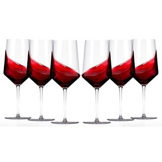 Miko Crystal Collection Wine Glasses - 20 Ounce Glass, (Set of 6)