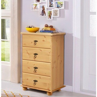 Fiona Chest of 4 Drawers, Solid Pine, Natural