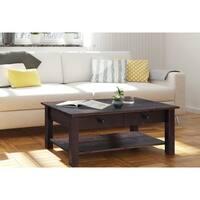 Yvonne 1 Drawer 1 Shelf Coffee Table, Espresso