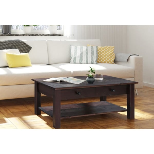 Coffee Table With Drawers Sale: Shop Yvonne 1 Drawer 1 Shelf Coffee Table, Espresso