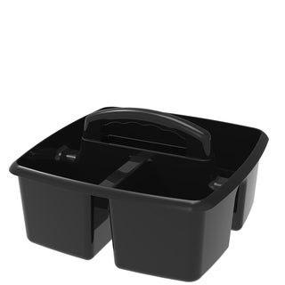 Storex Small Caddy, 9.25 x 9.25 x 5.25 Inches, Black, 6-Pack