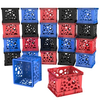 Storex Micro Crate, 6.75 x 5.8 x 4.8 Inches, 18-Pack
