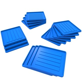 Storex School Locker / Office Cubicle Boot Tray, Blue, 18-Pack