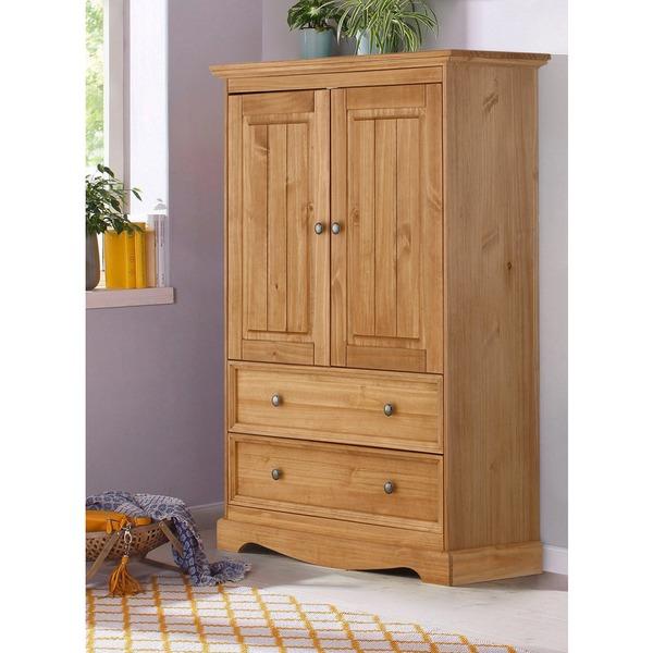 Natural Pine Kitchen Cabinets: Shop Monty 2 Drawer 2 Door Solid Pine Storage Cabinet