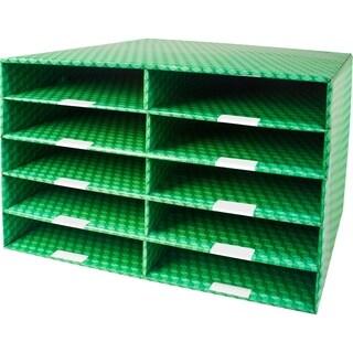 Storex Corrugated Construction Paper Sorter with Dry Erase Laminate