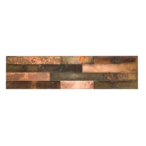 Aspect Metal Bronze Relic Distressed Peel & Stick Panel