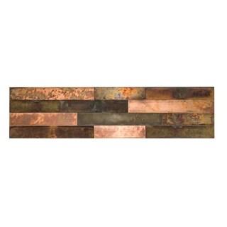 "Aspect Peel & Stick 23.6"" x 5.9"" Bronze Relic Distressed Metal Panel"