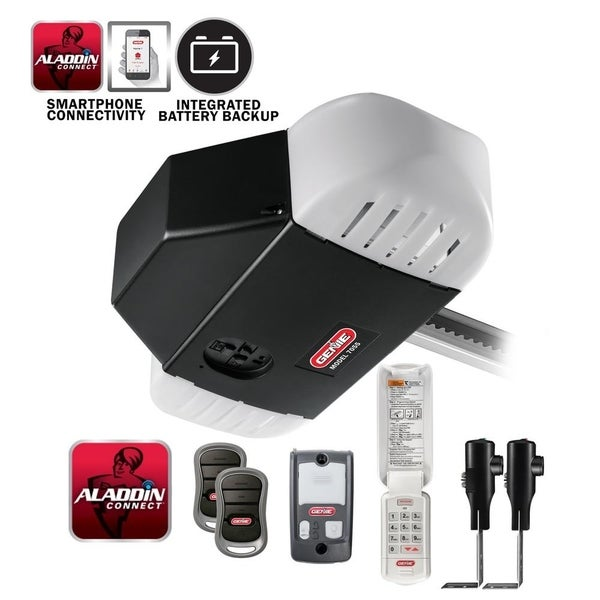 Genie StealthDrive 1 1/4 HPc Belt Drive Garage Door Opener with Battery Backup and Aladdin Connect Smartphone Connectivity