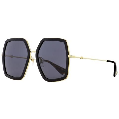Gucci GG0106S 001 Womens Black/Gold/Havana 56 mm Sunglasses