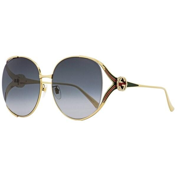 4a3e3754dce Shop Gucci GG0225S 001 Womens Gold 63 mm Sunglasses - Free Shipping ...