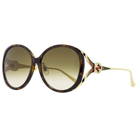 Gucci GG0226SK 003 Womens Havana/Gold 60 mm Sunglasses