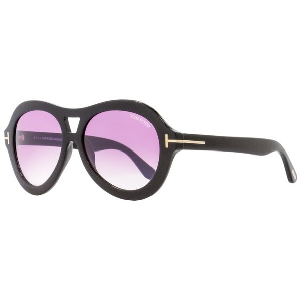 3d5b67537ad Shop Tom Ford TF514 Isla 01Z Womens Black 56 mm Sunglasses - Free Shipping  Today - Overstock - 24301589