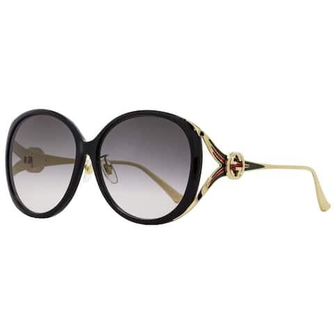 Gucci GG0226SK 001 Womens Black/Gold 60 mm Sunglasses