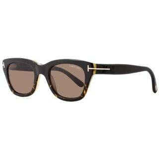 Tom Ford TF237 Snowdon 05J Womens Black/Havana/Honey 52 mm Sunglasses