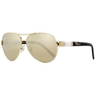Chopard SCHA59S 300W Womens Gold/Black/Ivory 59 mm Sunglasses