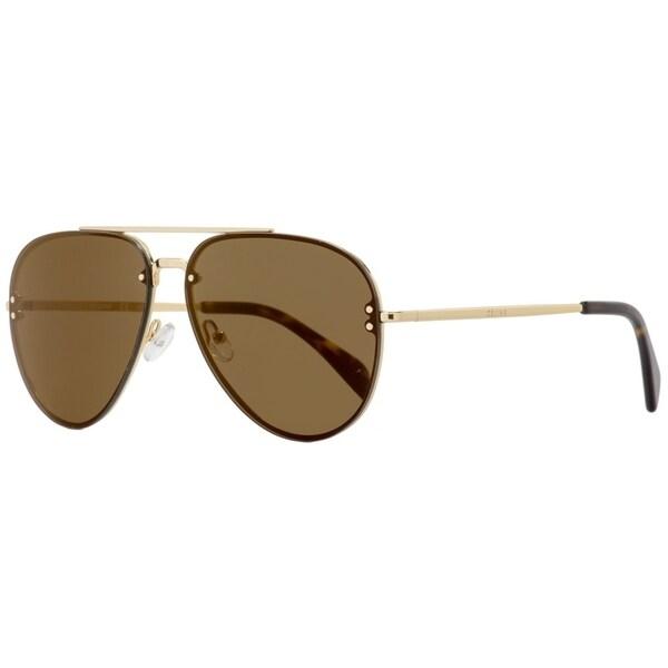 b85eaa2fc14 Shop Celine CL41391S J5GLC Womens Goldtone Havana Brown 60-millimeter Rimless  Aviator Sunglasses - Free Shipping Today - Overstock - 24301603