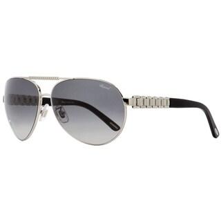 Chopard SCHA63S 0628 Womens Palladium/Black 63 mm Sunglasses