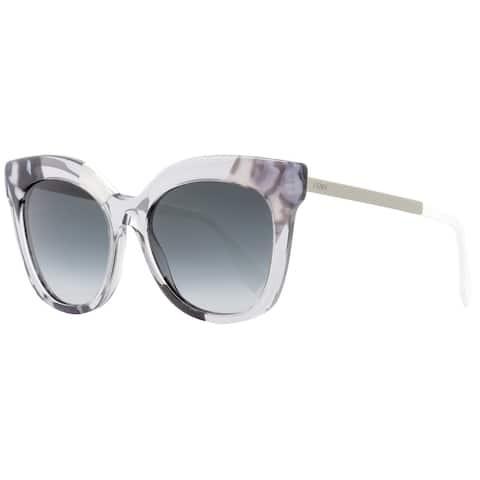 Fendi FF0179S 27Q9O Women's Grey/Crystal/Ruthenium Plastic 53-millimeter Sunglasses