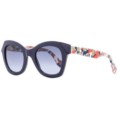 Fendi FF0204S 5OMLL Womens Navy Blue/Multicolor 48 mm Sunglasses - navy blue/multicolor - navy blue/multicolor
