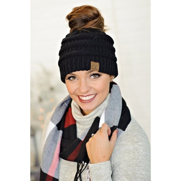 Shop Messy Bun Beanie Ponytail Beanie - On Sale - Free Shipping On ... 7974ca35c3a4