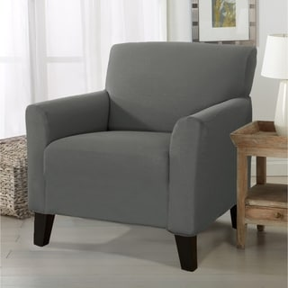 Link to Porch & Den Concordia Stretch Form-Fitted Chair Slipcover Similar Items in Slipcovers & Furniture Covers