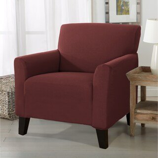 Home Fashion Designs Brenna Solid Collection Stretch Form-Fitted Chair Slipcover