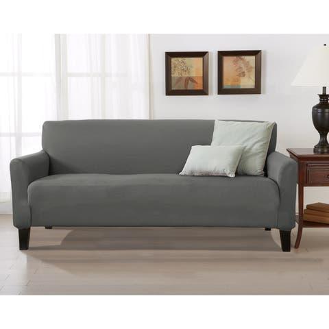 Porch & Den Concordia Stretch Form-Fitted Sofa Slipcover