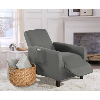 Home Fashion Designs Brenna Solid Collection Stretch Form-Fitted Recliner Slipcover
