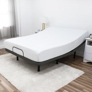Luxury 10-inch Queen Gel-Infused Memory Foam Mattress & Adjustable Base