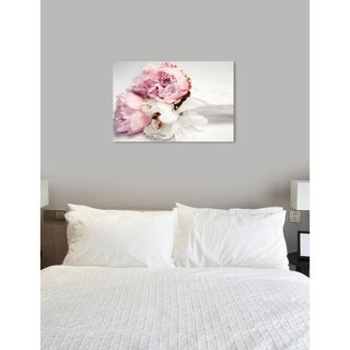 Oliver Gal 'Peonies and Magnolia Love' Fashion and Glam Wall Art Canvas Print - Pink, White