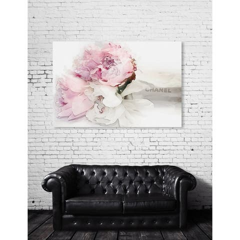 Oliver Gal 'Peonies Love Bouquet' Fashion and Glam Wall Art Canvas Print - Pink, White