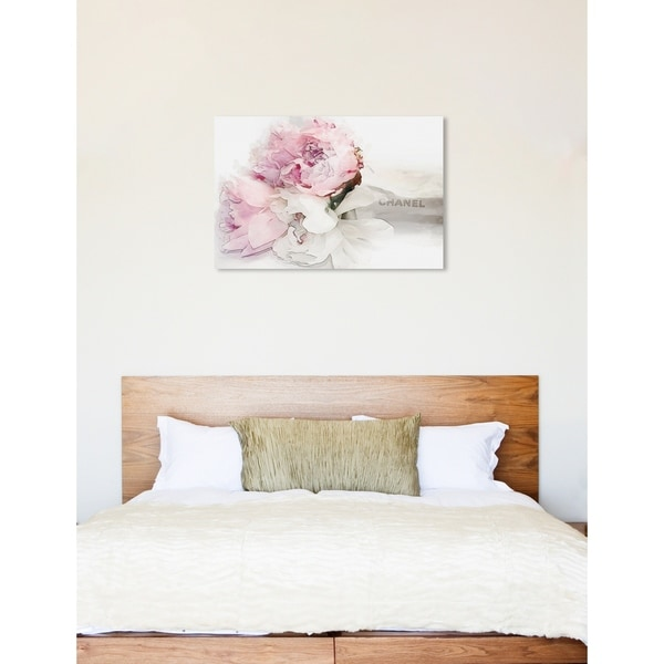 Oliver Gal 'Peonies Love Bouquet' Fashion and Glam Wall Art Canvas Print - Pink, White. Opens flyout.