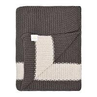 Marici Collection - brown/beige - cotton throw blanket