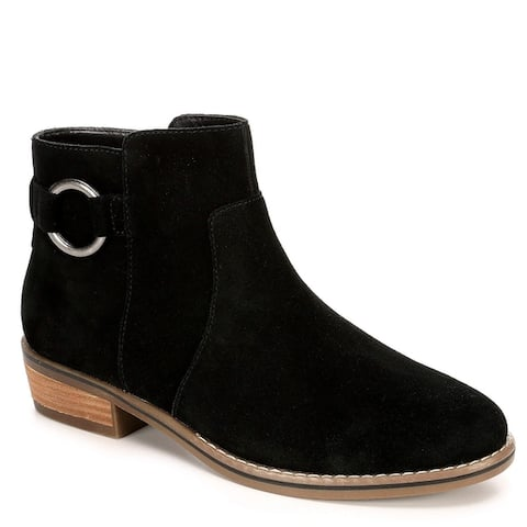 Franco Fortini Womens Brayden Low Heel Ankle Boot Shoes