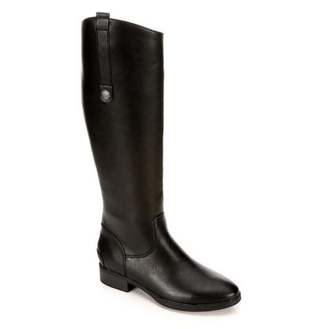 Xappeal Womens Emery Wide Calf Leather Riding Boot Shoes