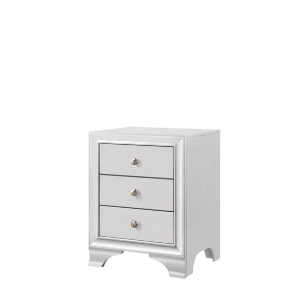 Contemporary White Night Stand.