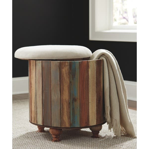 Peachy Shop Oristano Multi Color Storage Ottoman On Sale Free Caraccident5 Cool Chair Designs And Ideas Caraccident5Info
