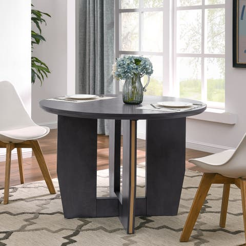 Strick & Bolton Wimme Brown Round Dining Table
