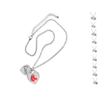 Official Authorized Game Time MLB Heart Necklace, Pick your Team