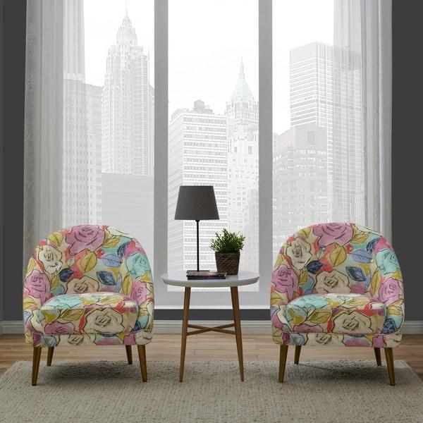 Floral Living Room Sets: Shop Handy Living Lori Multi Abstract Floral Modern Barrel